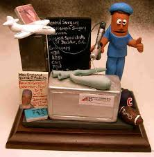ultimate surgeons gift a clay caricature of the surgeon in action with