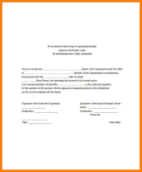 9 Bank Signature Verification Letter Format Credit Letter Sample