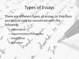 the writing process types of essays the writing process the  10 types of essays there are different