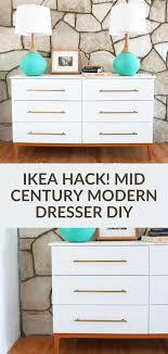 mid century modern dresser diy from