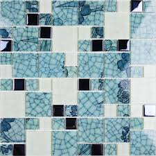 crystal glass mosaic kitchen tiles washroom backsplash bathroom blue and white tile le glass patterns design
