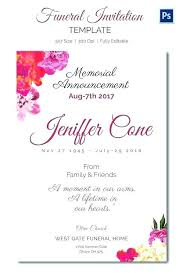 Memorial Announcement Cards Fascinating Funeral Invitation Cards 285627960085 Funeral