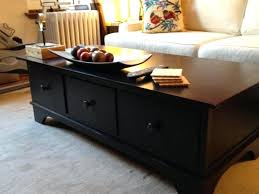 black coffee table with drawers pottery barn coffee tables with drawers table designs black wood coffee