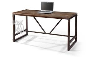 solid wood urban gold writing desk with iron base