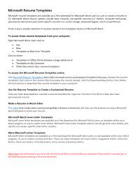 Free Chronological Resume Template Microsoft Word Ersum Throughout