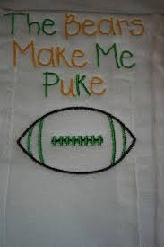 personalized burp cloth green bay packers