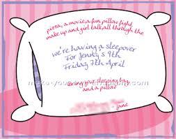 Pajama Party Invitations Sleepover Invitation Ideas For