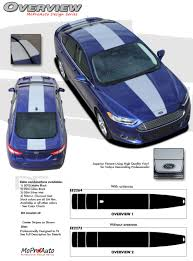Ford Fusion Color Chart Overview Ford Fusion Center Hood Racing Stripes Vinyl