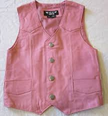 details about girls toddler kids soft pink biker motorcycle western leather vest 3 xl