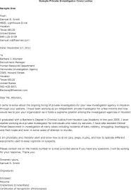Private Investigator Resume Sample Resume Cover Letters Justified