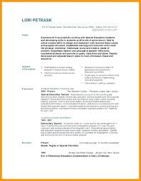 Special Needs Teacher Resume – Slint.co