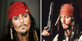 you can pare lucia as jack sparrow with capn jack from the