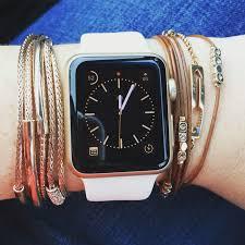 How to style an <b>Apple</b> Watch with layered <b>bracelets</b>. | <b>Apple</b> watch ...