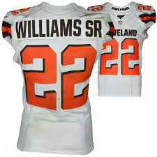 White 22 Authentic September Fanatics Vs Williams Game-used Jersey Browns Eagles Cleveland The On Philadelphia 2016 11 Tramon
