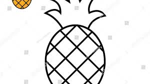 Pineapple Drawing For Kids How To Draw Easily Coloring Pages Animals