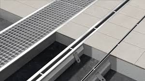 Drainage Channel Design Stainless Steel Drainage Channel With Central Slot Floor