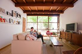 mid century modern eclectic living room. Mid Century Modern Eclectic Living Room With Wood Ceiling Eames Plywood Chair