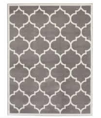 Area Rug 8x10 Large Modern Indoor Outdoor Low Profile Carpet Grey White Bedroom