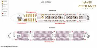 Etihad_airways A380 Seat Map Deck Seating Seating Charts