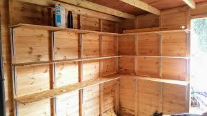 diy shed shelves