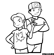 Pride Coloring Pages Canada Day Online Coloring Pages Page 1