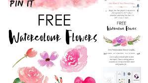 free watercolor flower designs