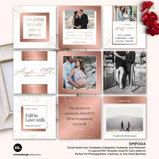 Social Media Post Template For Photographer Facebook Etsy