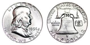 1956 Franklin Half Dollar Liberty Bell Coin Value Prices