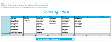 Excel Seating Chart Template Wedding Wedding Seating Chart Excel Rome Fontanacountryinn Com