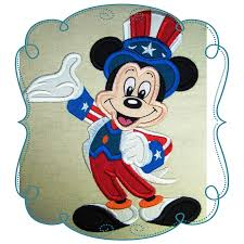 Embroidery Mickey Mouse Design 4th Of July Mickey Mouse Applique Machine Embroidery Design