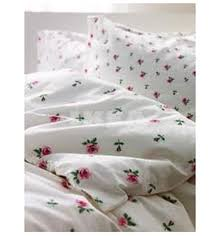 ikea emelina knopp queen full duvet cover set pink rosebuds roses romantic fl