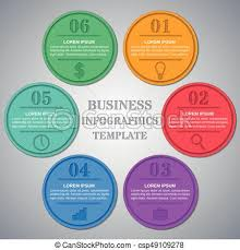 Infographics Templates 6 Option Parts Steps