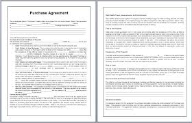 purchase agreement sample purchase contract template microsoft word templates