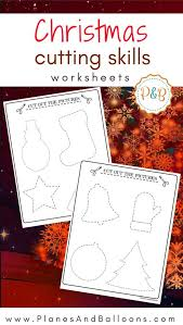 Christmas worksheets to practice tracing and cutting skills ...