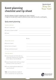 School Event Planning Checklist Template Program Plan