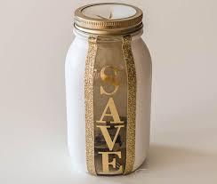 sparkling mason jar piggy bank