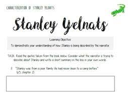 Direct Quotes Holes Characterization Of Stanley Yelnats Direct Quote Reference