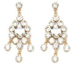 swarovski crystal drop earrings chandelier deco drop earrings in crystal gold gold crystal