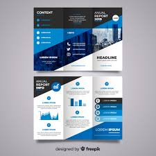 Trifold Business Brochure Vector Free Download