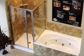 small corner tub shower combo ideas bathroom