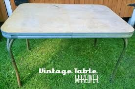 Retro Metal Kitchen Table Retro Metal Kitchen Table Sets Beauty Attractive Vintage Style