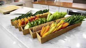 Decorative Relish Tray For Thanksgiving Crudités party trick Turn vegetables into a stunning 'garden 100