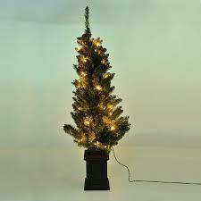 amazoncom gki bethlehem lighting pre lit. 4-1/2 Foot Pre-Lit Christmas Tree With Decorative Pot (Clear Lights) 220 Branch Tips, 50 Clear Lights, 12 Pinecones, 2 Spare Bulbs | Christmas-collection Amazoncom Gki Bethlehem Lighting Pre Lit G