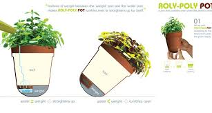 Roly-Poly Pot Tips Over When Plants Need Water