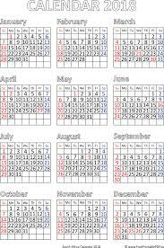november 2018 calendar holidays south africa