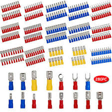 280PCS Assorted Crimp Spade Terminal Insulated Electrical <b>Wire</b> ...