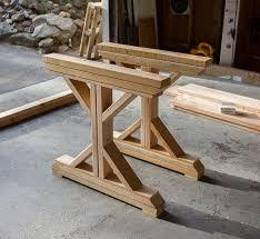 building a fancy x farmhouse table