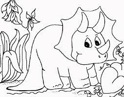 Disegno Per Bambini Da Colorare Con Dinosauro Disegni Da Colorare