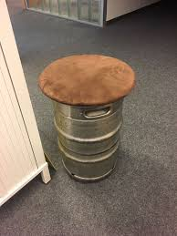 picture of beer keg stool