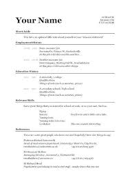 How To Write A Simple Resume Sample Resume Format Example Resume